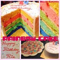 Rainbow 5 Layer Vanilla Cake