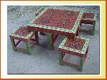 Hand Painted Coffee Table - Indian Painted Furniture