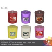 3x3 Scented Pillar Candles