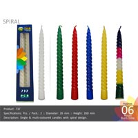737 Spiral Candle