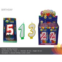 Birthday Number Candle