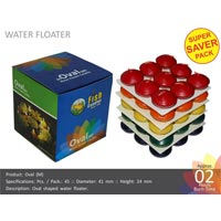 Water Floating Candle Oval-m