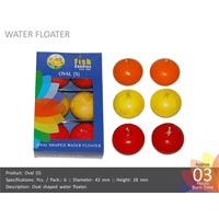 Water Floating Candle Oval-s