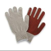 nitrile one side palm cotton knitted gloves