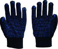 Pvc Dotted Cotton Knitted Gloves