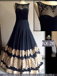 Shree Maa Fashion Designer Black Cocktail Party Gown