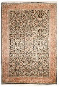 Oriental Hand Knotted Kashmiri Silk Carpets
