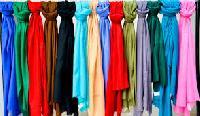 Plain Silk Pashmina Shawls
