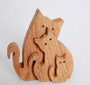 Wooden Decorative Cats