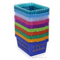 plastic storage baskets