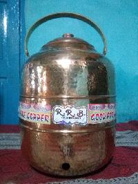 Copper Cylindrical Water Pot