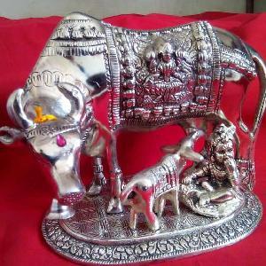 Krishna Cow & Calf Statue