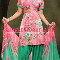 Unstitched Synthetic Salwar Suits