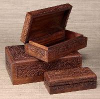 handcrafted decorative wooden box