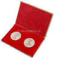 20 gm Gold Plated Silver Queen Victoria & King George Coins