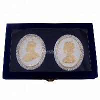 40 gm Gold Plated Silver Queen Victoria & King George Coins