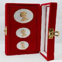 80 gm Gold Plated Silver Queen Victoria Coins