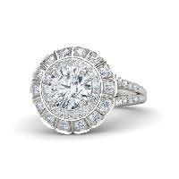 Round Cut Diamond Exillent Cut Rings For Women.