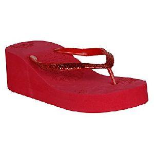 Ladies Fancy Wedge Heel Slippers