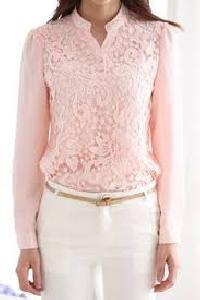 Ladies Long Sleeve Printed Blouse