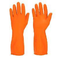 Industrial Orange Rubber Hand Glove