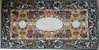 Brown Marble Inlay Table Tops