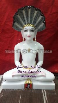 Jain White Marble Statue