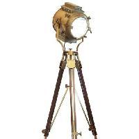 Nautical Antique Tripod Lamp With Unique Tripod Stand