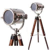 Rustic Brass Tripod Nautical Spot Light Table Lamp Bedside H