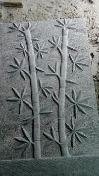 Stone Bamboo Tree Carvings