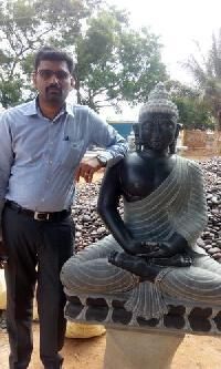 Stone Buddha 4 Feet Statue