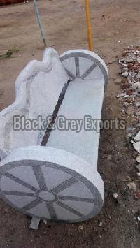 Wheel Stone Bench
