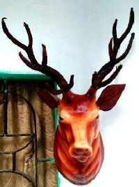 Leather Handicraft Stag Wall Heads