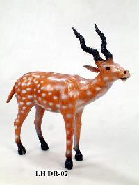 Leather Handicraft Deer Statues