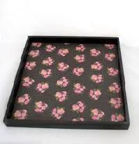 Floral Square Tray