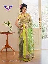 4Gicha Jamdani Span PaarReshom 100% Silk tested jori