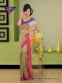 5Gicha Jamdani Span PaarReshom 100% Silk tested jori