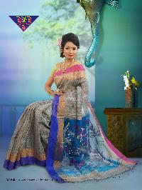 6Gicha Jamdani Span PaarReshom 100% Silk tested jori