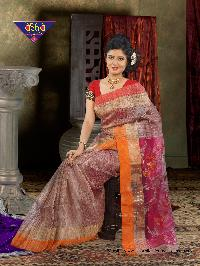 7Gicha Jamdani Span PaarReshom 100% Silk tested jori