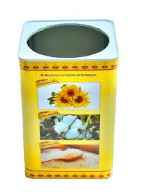 5 Ltr Square Tin With Offset Printing