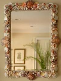 Conch Shell Mirror Frame