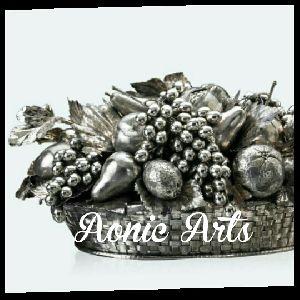Silver Inlay Fruit Basket