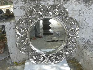 Silver Inlay Mirror Frames
