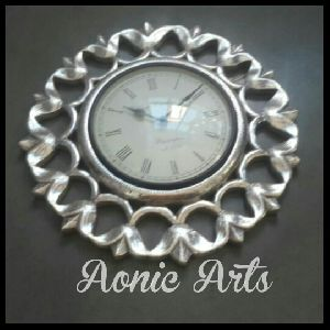 Silver Inlay Wall Clocks