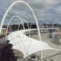 Walkway Covering Tensile Structures