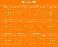 New Year Table Calendar