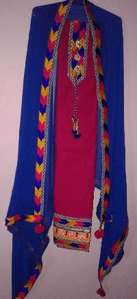 Phulkari Suit With Dupatta