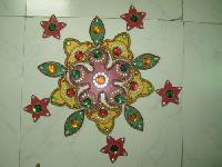 Wooden Floor Rangoli