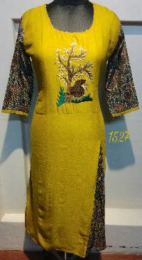 1527 Embroidered Kurtis
