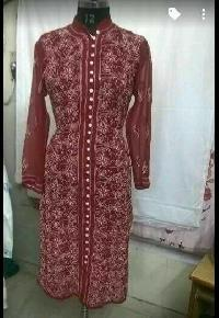 Georgette Chikan Embroidered Kurtis
